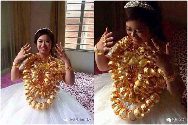Phát hoảng với của hồi môn vàng tính kg của những cô dâu này