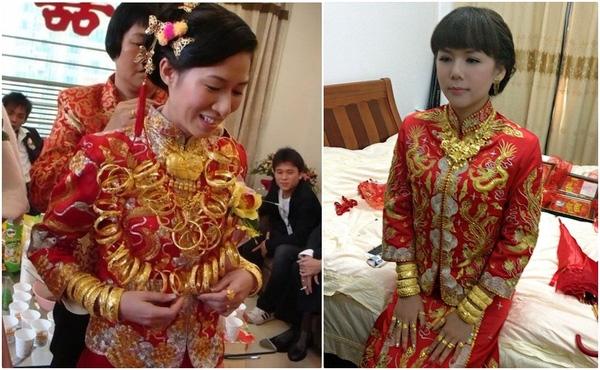 Các vị đại gia khá hài lòng và tâm đắc khi được mọi người khen ngợi về đám cưới vàng. (Ảnh: Internet)
