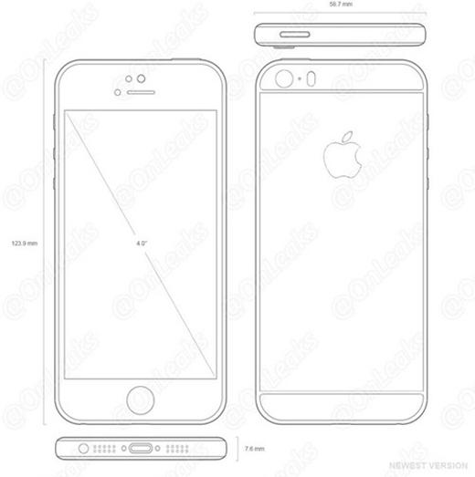 Phác thảo về mẫu iPhone 5se trên các trang công nghệ.