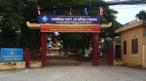 Trường THPT Lê Hồng Phong - nơi xảy ra vụ việc. Ảnh: Internet