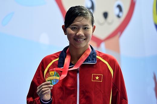 Ánh Viên là một trong những đại diện xuất sắc nhất của thể thao Việt Nam năm vừa qua. (Ảnh: Internet)