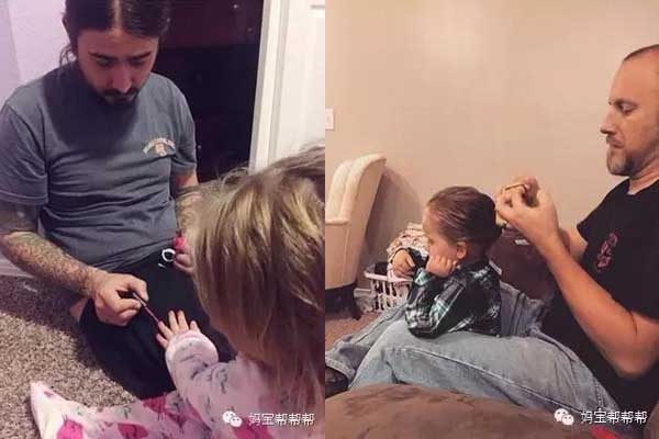 Bố sẵn lòng tốn cả tiếng đồng hồ để sơn móng tay, tết tóc cho con gái vui.