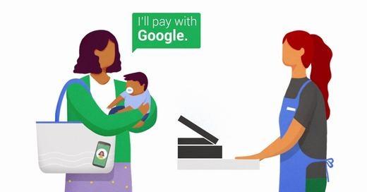 """Mọi người sẽ thoải mái hơn trong việc mua sắm. Chỉ cần nói""""Tôi trả bằng Google""""... (Ảnh: Google)"""