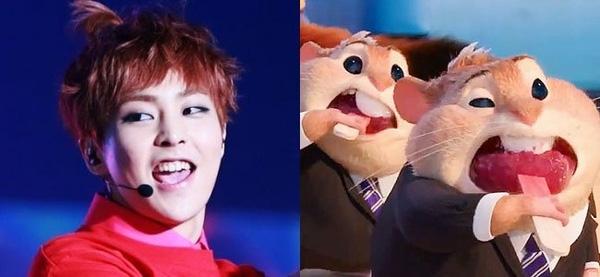 """Xiumin (EXO) lại giống với những chú chuột hamster trong """"Zootopia"""""""