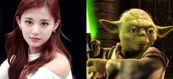 """Tzuyu có đôi tai và đôi mắt to khá giống với nhân vật Yoda trong """"Star Wars"""""""