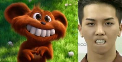 """""""Ngã ngửa"""" với hình ảnh giống nhau y chang của Mino (WINNER) và chú gấu trong """"Thần rừng Lorax""""  Donghae (Super Junior) luôn được các fan so sánh với chú Nemo đáng yêu trong """"Finding Nemo"""""""