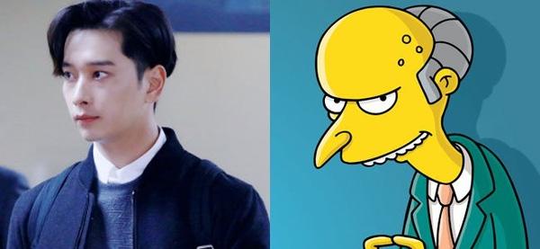 """Chansung (2PM) và Mr.Burns trong series hoạt hình nổi tiếng """"The Simpsons"""" trông chỉ khác nhau kiểu tóc"""