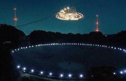 Kính thiên văn Arecibo đặt tại Puerto Rico. (Ảnh: Internet)
