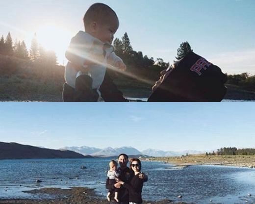 Đến cả những tấm hình cho vợ chồng Hà Tăng chụp trong chuyến du lịch New Zealand cũng không cho thấy rõ khuôn mặt con trai. (Ảnh: Internet) - Tin sao Viet - Tin tuc sao Viet - Scandal sao Viet - Tin tuc cua Sao - Tin cua Sao