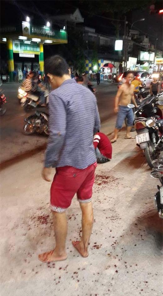 Vụ chém người kinh hoàng đêm 06/03. (Ảnh: VietNamNet)