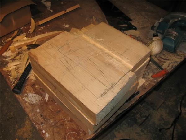 Phác thảo bằng chì trên khối gỗ.(Ảnh: Randall Rosenthal)