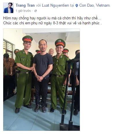 """""""Hoa hậu hài"""" Thu Trang hài hước đăng tải bức ảnh của ông xã Tiến Luậtcùng lời chúc 8/3 vui vẻ. - Tin sao Viet - Tin tuc sao Viet - Scandal sao Viet - Tin tuc cua Sao - Tin cua Sao"""