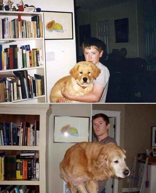 Chàng trai này hẳn khiến nhiều người ghen tị với chú chó của mình. (Ảnh: Internet)