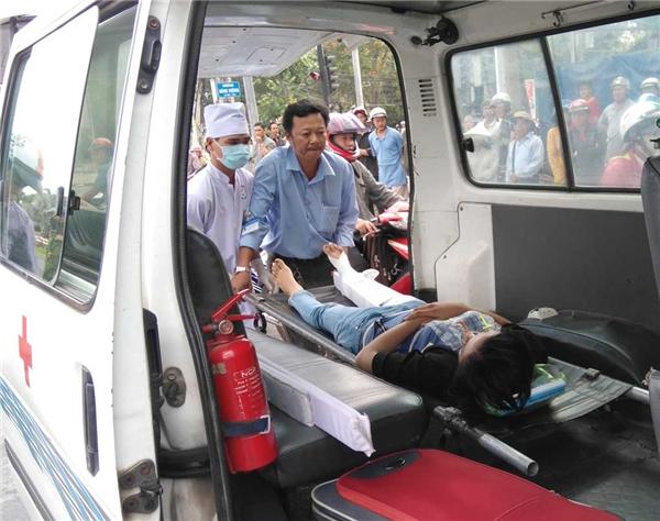 Cô gái phải nhập viện ngay trong ngày 8/3. Ảnh: Internet