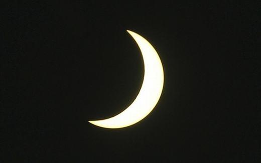 Trong khi đó ở Bali, người ta cũng đã ghi lại cảnh tượng nhật thực một phần. (Ảnh: AP)