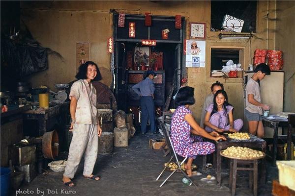 Một quán bánh tại khu Chợ Lớn.