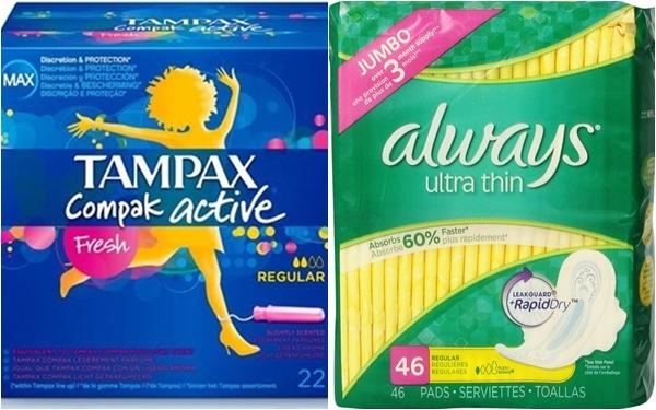 3.100 sản phẩm tampon nhãn hiệu Tampax và băng vệ sinh nhãn hiệu Always xuất sang thị trường Pháp và Canada đã bị P&G thu hồi.