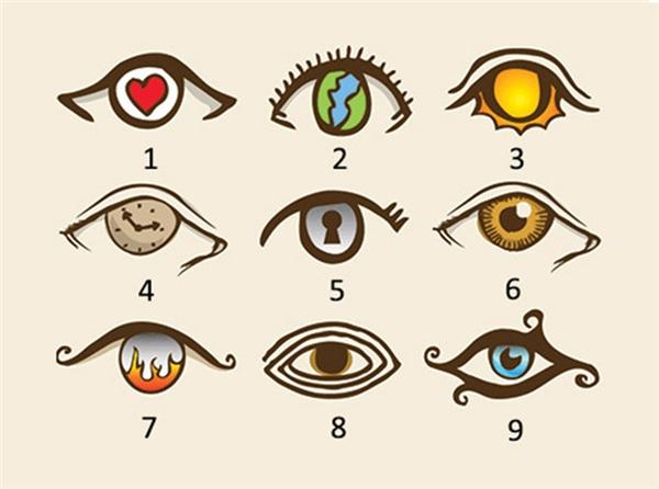 Hãy chọn con mắt bạn thích nhất và xem đáp án. (Ảnh: Internet)