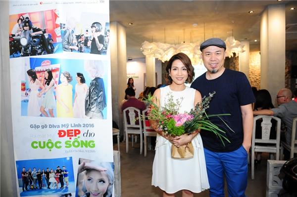 Nhạc sĩ Huy Tuấn cũng đến chung vui cùng nữ diva. - Tin sao Viet - Tin tuc sao Viet - Scandal sao Viet - Tin tuc cua Sao - Tin cua Sao