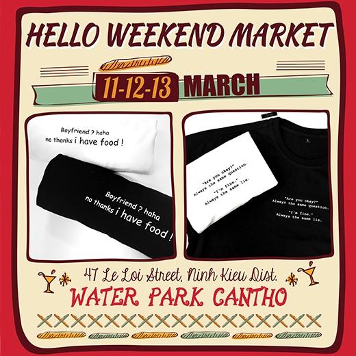 Hello Weekend Market mang điều bất ngờ trở lại Cần Thơ