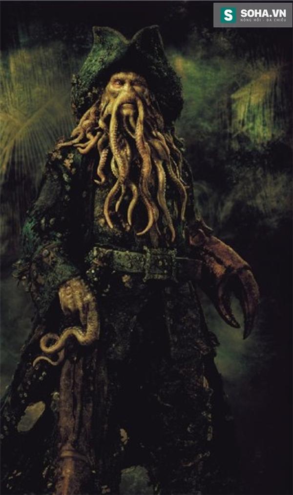 Nhân vật Davy Jones trong phim Pirates of the Caribbean.