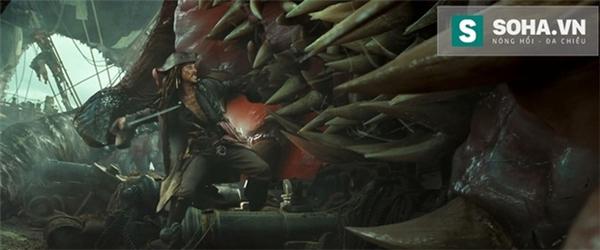 Cảnh phim có sự xuất hiện của quái vật Kraken.
