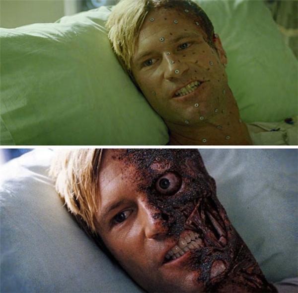 Hình ảnh nhân vật phản diện trước và sau khi xử lý CGI.