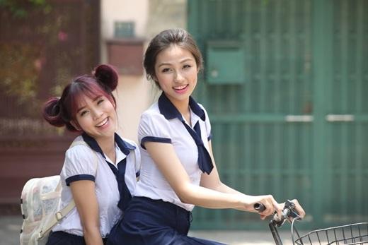 Phương Titi trong sitcom School TV.