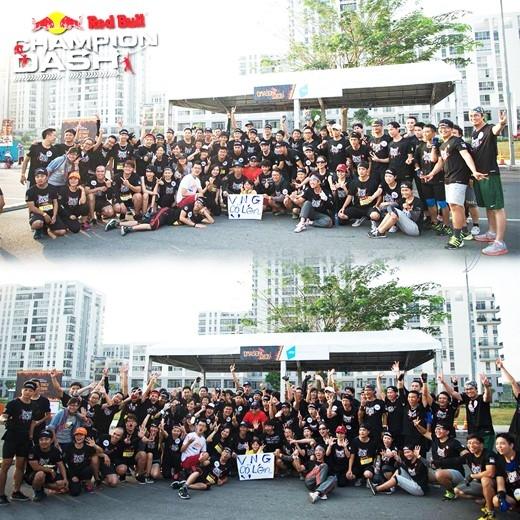 """Công ty VNG với một đội chơi gồm 150 người đã trở thành team có số lượng thành viên """"khủng"""" nhất mùa đầu tiên của Red Bull Champion Dash. (Ảnh: Internet)"""
