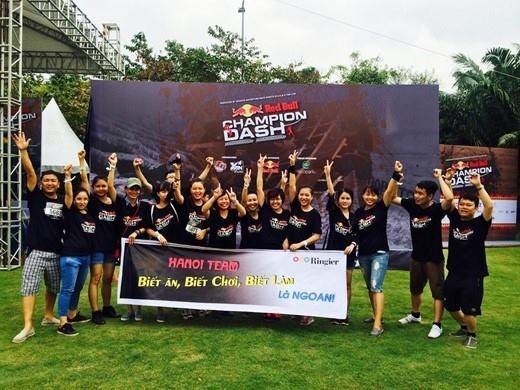 """Đội chơi đến từ công ty Ringier Hà Nội đã """"cháy"""" hết mình tại Red Bull Champion Dash mùa thứ 2. (Ảnh: Internet)"""