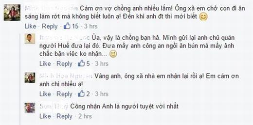 Chị Hoa - vợ của anh Viết Phương không giấu được niềm vui khi chia sẻ trên facebook.