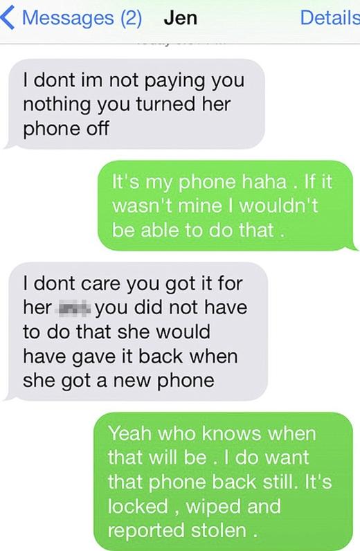 """Đoạn tin nhắn chàng trai """"nài nỉ"""" mẹ Melisa. (Ảnh: Internet)"""