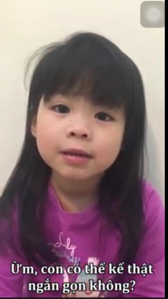 """Cô bé nói tiếng Anh sõi như người bản xứ khiến dân mạng """"sững sờ"""". (Ảnh: Cắt clip)"""