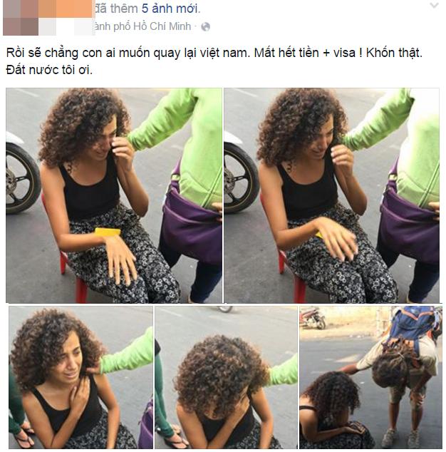 Nữ du khách bị giật mất túi xách tại Sài Gòn.(Ảnh: Internet)