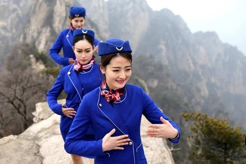 Tiếp viên hàng không lên núi học võ luyện can đảm