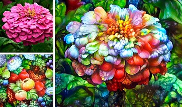 Một bông hoa bình thường chợt biến thành tác phẩm 3D ảo diệu.(Ảnh: Internet)