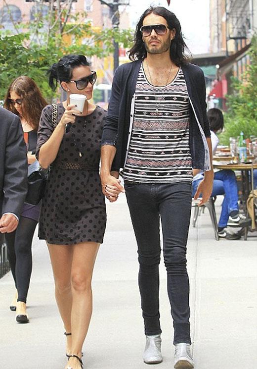 Katy và chồng cũRussell Brand.(Ảnh: Internet)