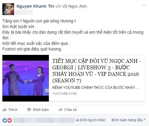 Trên trang cá nhân, Khánh Thi gửi lời xin lỗi tới nữ diễn viên trẻ. - Tin sao Viet - Tin tuc sao Viet - Scandal sao Viet - Tin tuc cua Sao - Tin cua Sao