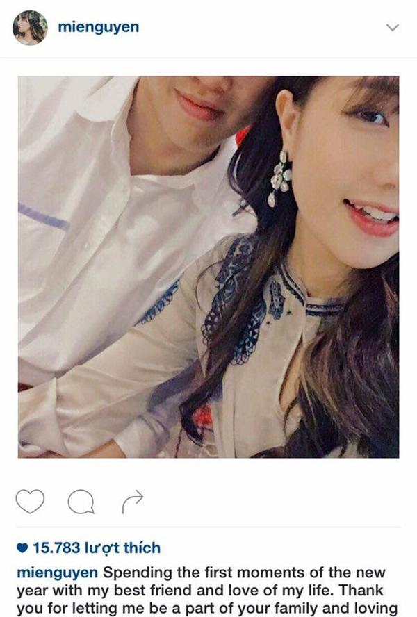 Bức ảnh đầu tiên Mie công khai về mối quan hệ mới.