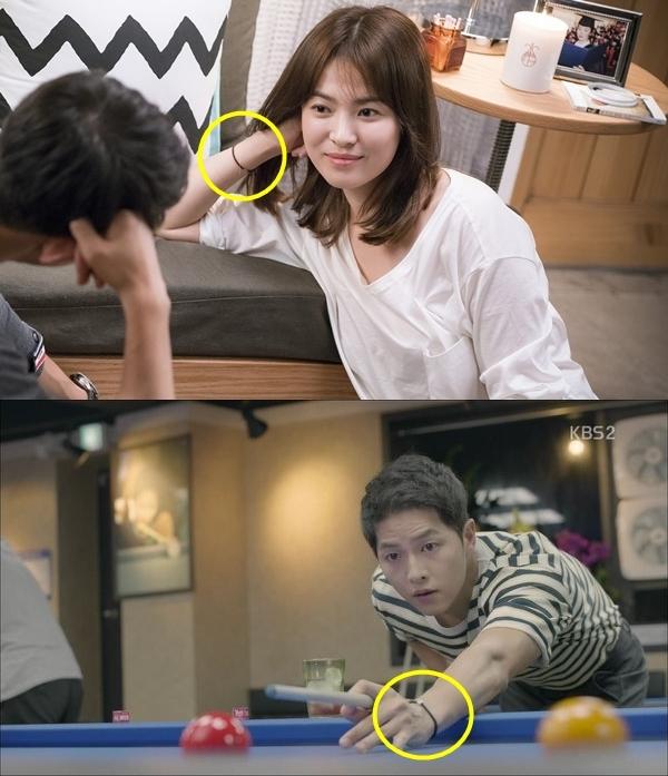 Hay như chiếc vòng tay anh đeo trong tập 6 lại giống hệt vòng tay được Song Hye Kyo diện từ tập 2.