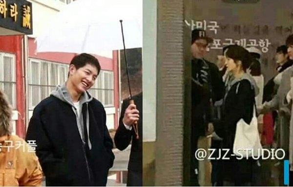 """Ngoài ra, hình ảnh hậu trường khẳng định cả hai diện đồ đôi hoặc Song Hye Kyo đã """"mượn tạm"""" áo của bạn diễn."""