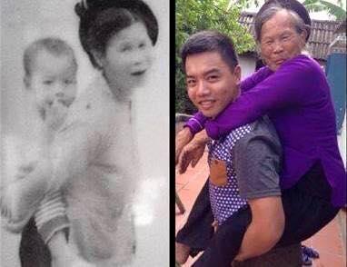 """""""Con dù lớn vẫn là con của mẹ, đi hết đời lòng mẹ vẫn theo con"""".(Ảnh: Internet)"""