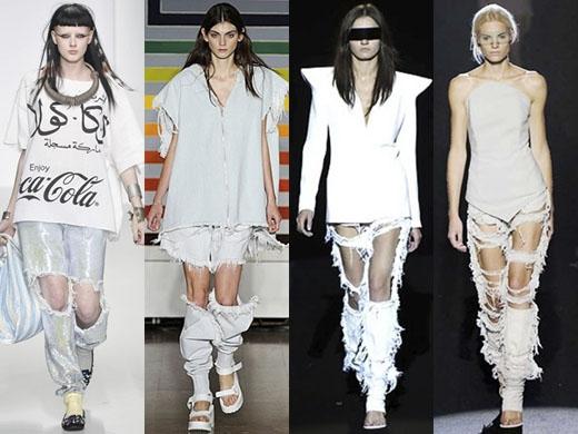 """Các nhà thiết kế Âu Mỹ là những người tiên phong cho việc sáng tạo ra kiểu quần """"con nhà nghèo"""" bán với giá """"con nhà giàu"""" này. (Ảnh: Internet)"""