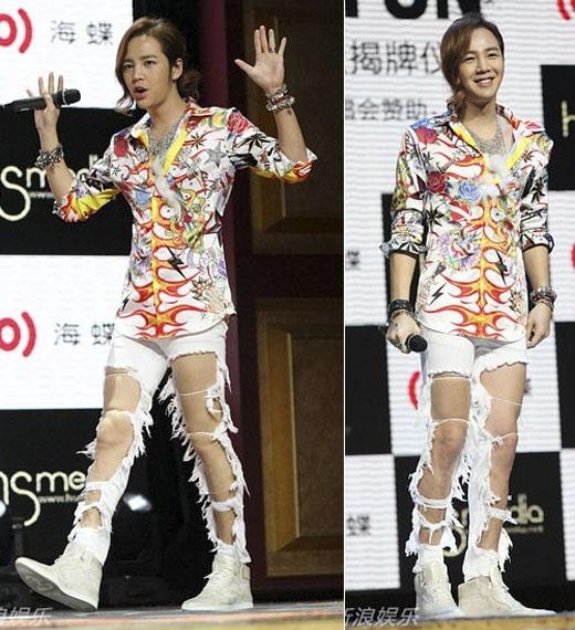 Một trong những nguyên nhânkhiến mẫu quần tơi tả này làm mưa làm gió trên thị trường là vì cácthần tượng Hàn Quốcrất thường hay diệnchúng. (Ảnh: Internet)