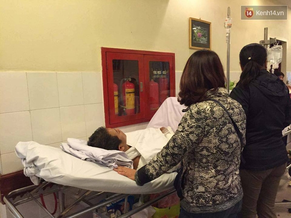 Anh Duy đang được điều trị tại bệnh viện Việt Đức