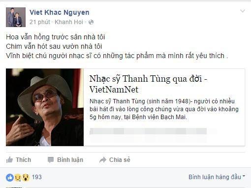 Nhiều tác phẩm của Thanh Tùng đã hằn sâu vào trong tâm trí của Khắc Việt. - Tin sao Viet - Tin tuc sao Viet - Scandal sao Viet - Tin tuc cua Sao - Tin cua Sao