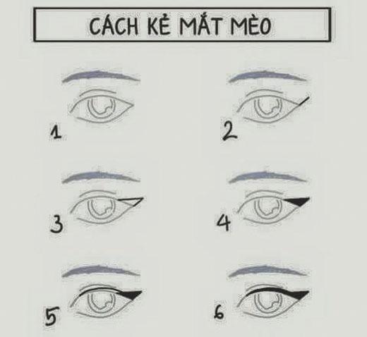 Để có được một đôi mắt cuốn hút hãy thực hiện từng bước một theo thứ như trên. (Ảnh: internet)