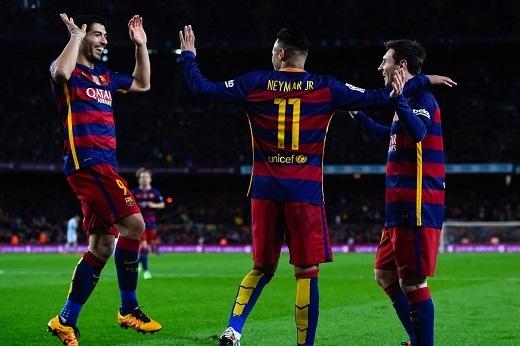 """Bộ ba """"MSN"""" sẽ lại tiếp tục gieo sầu cho Arsenal (Ảnh: Getty Images)"""