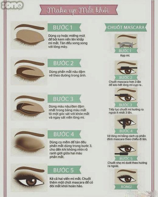 Sau khi kẻ mắt xong bạn hãy tiến hành đánh màu mắt. Mắt khói sẽ giúp tạo chiều sâu cho đôi mắt và giúp mắt bạn trông có vẻ to hơn. (Ảnh: Internet)