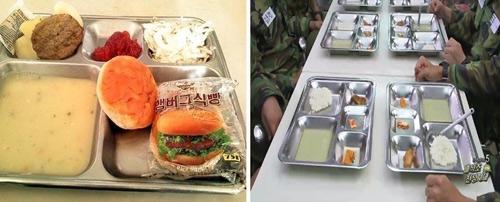 Bữa ăn của lính trên phim và đời thực.